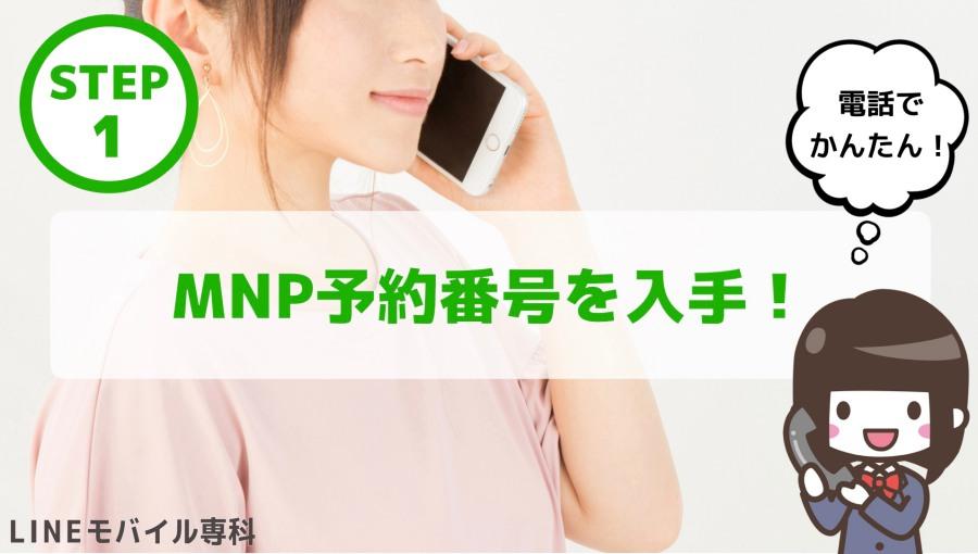 手順・MNP予約番号
