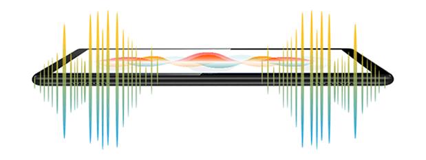MediaPadT5のデュアルスピーカー