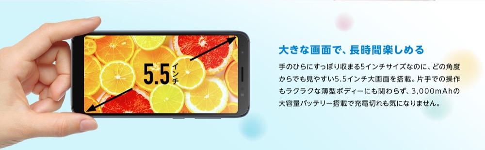 ZenFoneLiveの大画面