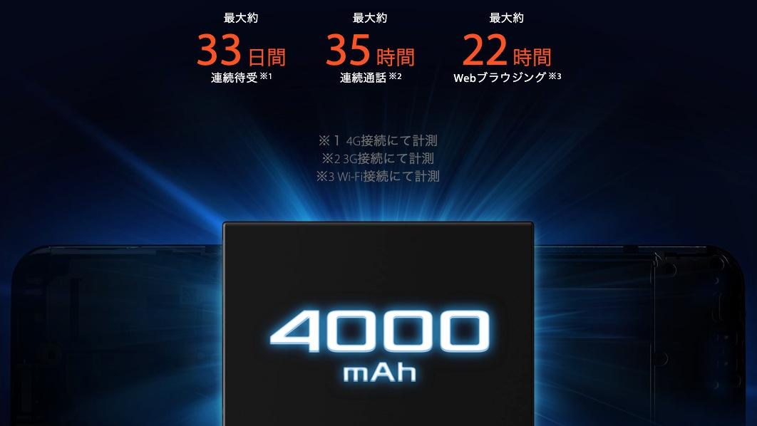 ZenFone Max(M2)は大容量バッテリー