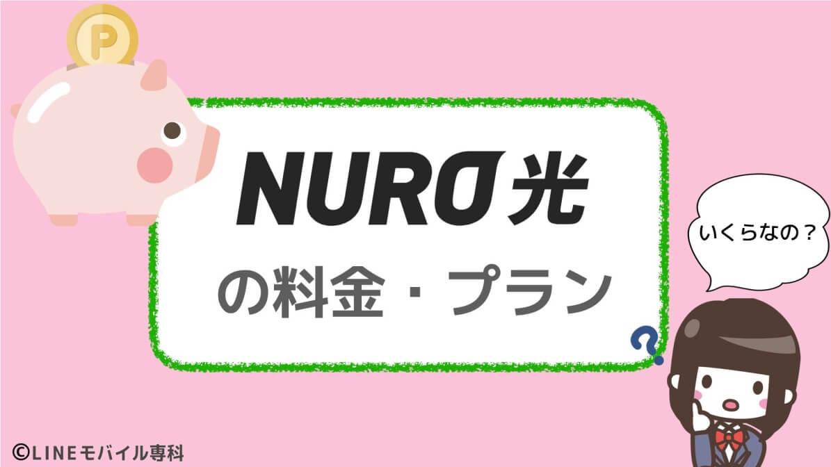 NURO光の料金・プランは?